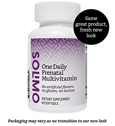 Amazon Brand - Solimo One Daily Prenatal Multivitamin, 60 Softgels, 2 Month Supply (Packaging may vary)