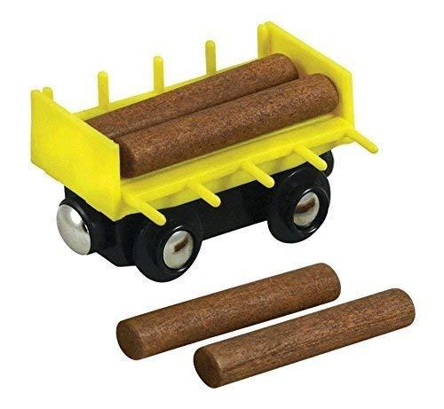 Li'l Chugs Wooden Train Log Freight Car