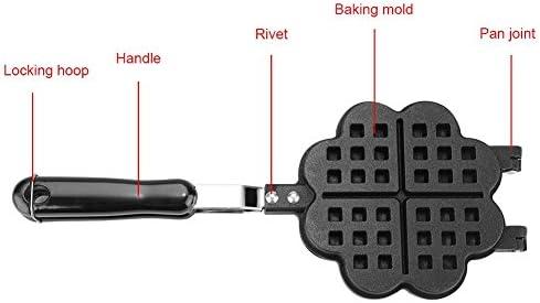 XHCP Moule de Cuisson à gaufres, il Forme Le gaz de Cuisine Domestique antiadhésif gaufrier Moule Moule Presse Plaque Outil de Cuisson