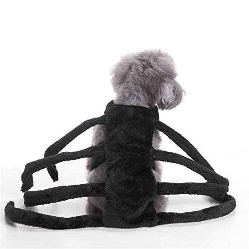 LXLP Funny Dog Clothes Pet Puppy Dogs Christmas Clothes Spider Style Costume Outfit Apparel Up Halloween Decoration Pet Supplies (Large)]()