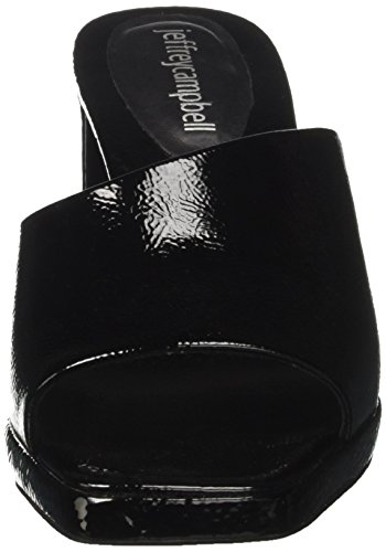 Black suzuci 8 Campbell Peeptoe 001 Schwarz Crinkle Damen Sandalen Leather Jeffrey 1F6wpWzqtF