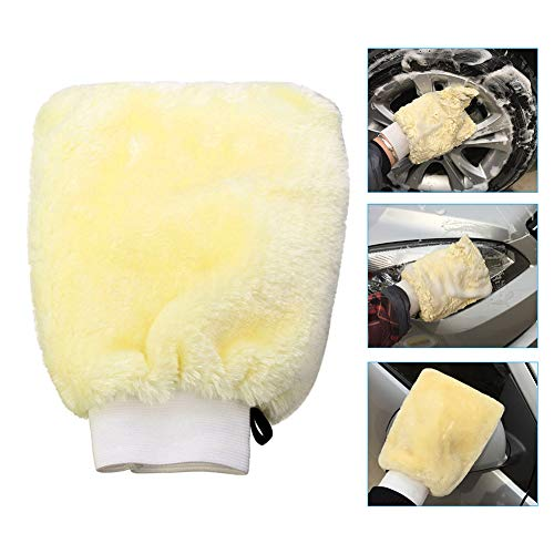 Starmoon Double-sides Microfiber Mitt Car Auto Wash Mitten Washing Cleaning Glove Shampoo Duster Brush -
