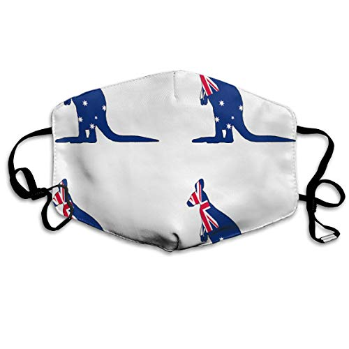 Kangaroo Australia Flag Mouth Mask, Comfortable Face Mouth Mask Resist -
