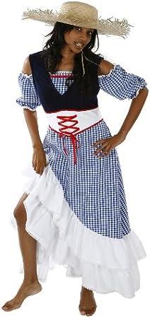 Disfraz campesina para mujer talla M Farm Erin mujeres ...