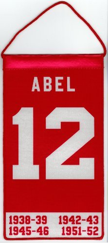 Sid Abel Detroit Red Wings Mini Retirement Banner