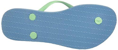 Logo Mujer Azul Splash Slim Para Chanclas blue Havaianas 5IT6qw