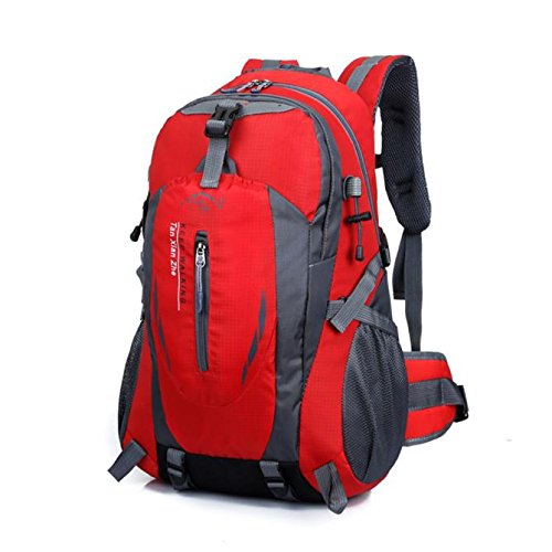 Chartsea Outdoor Hiking Camping Waterproof Nylon Travel Luggage Rucksack Backpack Bag 40L (Red) by Chartsea (Image #1)