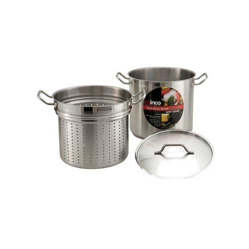 Steamer/Pasta Cooker Set With Cover 20 Qt by Winco