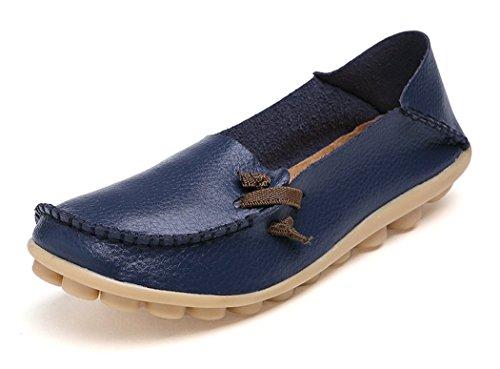 VenusCelia Women's Comfort Walking Cute Flat Loafer Deep/Navy