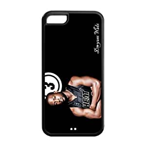 Apple iPhone 5C TPU Case with Miami Heat Dwyane Wade Image Background Design-by Allthingsbasketball