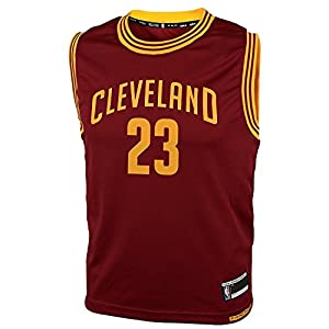 LeBron James Cleveland Cavaliers #23 Youth Road Jersey Maroon
