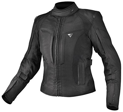 Price comparison product image SHIMA VOLANTE LADIES,  Slim Summer Protected Vented Textile Motorcycle Jacket for women with Armored (XS-XL) (L,  Black)