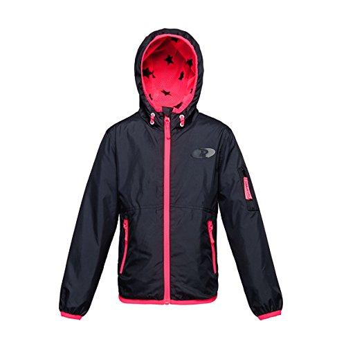 - Rokka&Rolla Girls' Lightweight Water Resistant Zip-Up Hooded Windbreaker Jacket Rich Black