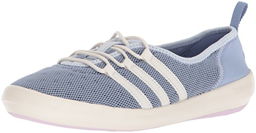 adidas outdoor Women's Terrex CC Boat Sleek Walking Shoe, Chalk Blue/Chalk White/Aero Pink