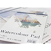 Premium Quality 2 Pack A3/A4 Watercolour Painting Drawing Paper Pad 180 GSM/15 Sheets