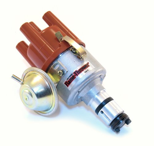 Pertronix D186504 Flame-Thrower VW Type 1 Engine Plug and Play Vacuum Advance Cast Electronic Distributor with Ignitor - Vacuum Custom Advance