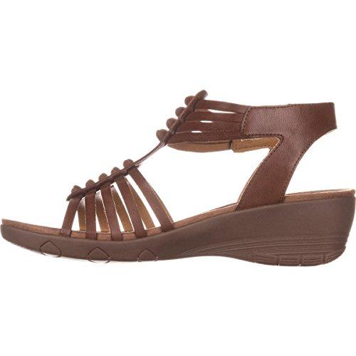 BareTraps Bare Traps Womens Hinder Open Toe Casual Ankle Strap Sandals, Brown, Size 8.5 (Strap Trap)