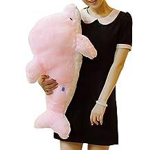 "Kaimao Soft and Cute Dolphin Stuffed Animal Plush Toys Dolls with Led Light 45cm/17.7""---Pink"