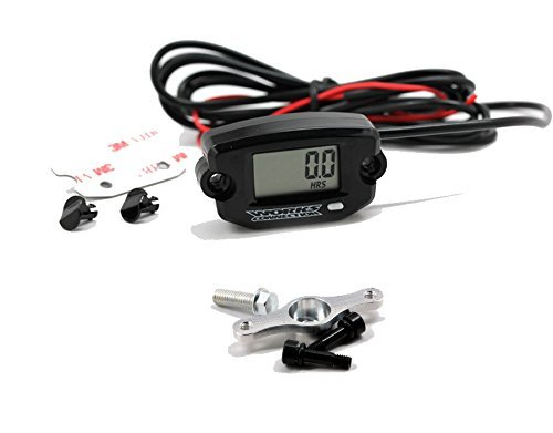 Works Connection 37-200 Tach/Hour Meter/Clock with Maintenance Timer & 37-205 Mount Kit
