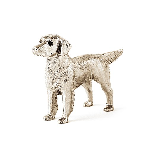 (DOG ARTS JP Flat Coated Retriever Made in UK Artistic Style Dog Figurine Collection)