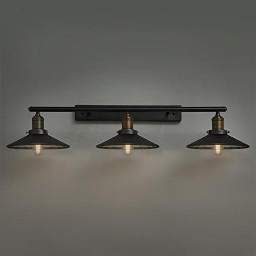 KunMai Industrial Loft Black Saucer Shade Retro Three-Light Indoor ...