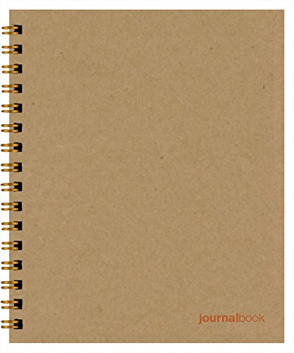 Minimalist JournalBook (7 x 8.5 inches) Side-Bound Sand Notebook -- 100% Recycled Covers -- Durable, Quality Paper, Alternating Line and Graph Pages