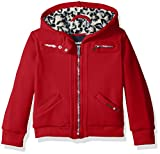 #7: Limited Too Girls' Fleece Bomber with Warm Faux Fur Cheetah Lining,