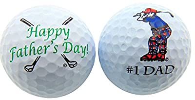 Westman Works Happy Father's Day Golf Ball Gift Pack (Set of 2 Different Balls) for Dad or Grandpa