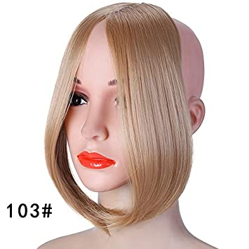 Amazon Com Long Clip In On Front Hair Bang Side Fringe Hair