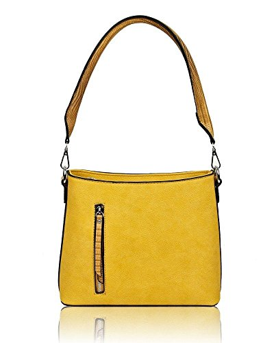 Unbranded, Borsa a tracolla Donna Yellow