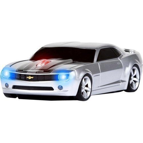 Roadmice Concept Camaro Series Optical Wireless Radio Frequency USB 800 DPI Scroll Wheel Car Mouse, Black/Silver