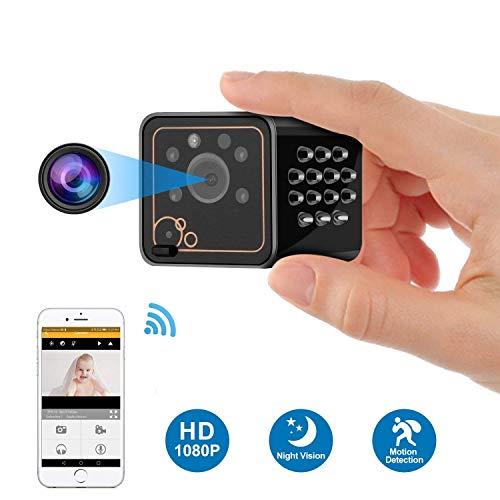 C-Xka HD 1080p Monitor de Teléfono del Hogar Control Remoto Micro Cámara Inteligente Visión Nocturna WiFi Pequeña Cámara...