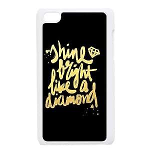Custom Diamond Back Case for iPod touch4, Personalized Diamond Ipod Hard Back Case, Diamond touch4 Phone Case