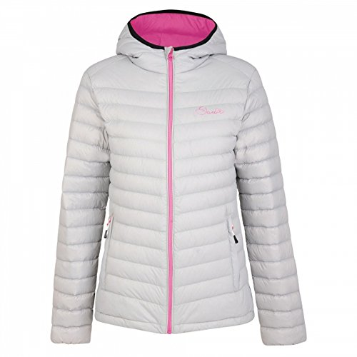 Dare 2b Womens/Ladies Drawdown Hooded Down Fill Insulated Jacket (16 US) (Silver Flash/Luminous (Dare Down Jacket)
