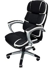 Cadeira Presidente Corporate em Couro PU Giratória Preto, Mymax, 25.009122, Preto