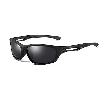 f5ce77115b AMZTM Gafas de Sol Polarizadas Deportivas para Hombre Mujer, Correr  Ciclismo Pesca Conducción Gafas Espejadas, Marco Irrompible TR90(Marco  Negro Mate, ...
