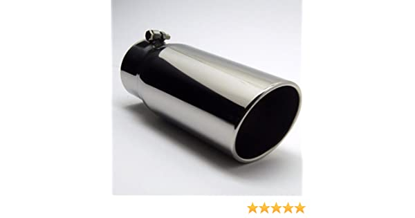 """Fits 4 /"""" Pipe Inside Roll Angle 6/"""" X 18/"""" Jones Exhaust Tail Pipe Tip Fits"""