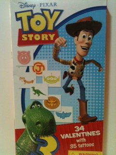 Disney Pixar Toy Story 34 Valentines with 35 tattoos -