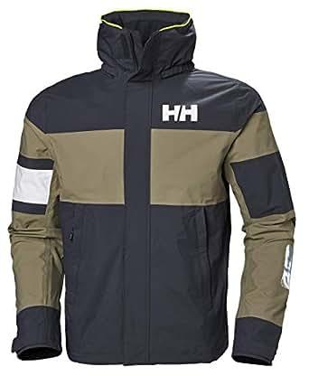 Helly Hansen Men's Salt Waterproof Lightweight Sailing Jacket, Graphite Blue, Small
