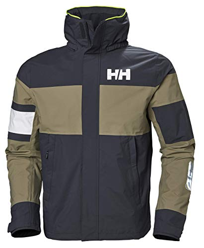 Helly Hansen Men's Salt Waterproof Lightweight Sailing Jacket, Graphite Blue, Large