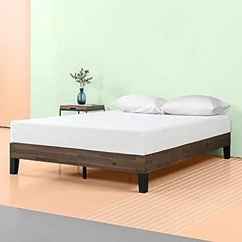 Amazon Com Zinus 12 Inch Acacia Wood Platform Bed No