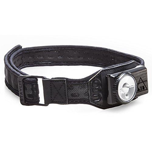 UCO Air 150 Lumen Lightweight Rechargeable LED Headlamp with Variable Brightness Dial Control and Adjustable Strap, Black Mesh