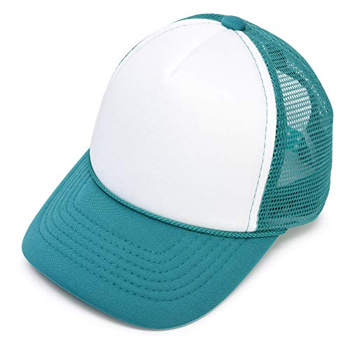 Foam Trucker Hat Cap - DALIX Infant Trucker Hat Baby Cap Tiny Extra Small Girls Boys in Teal White
