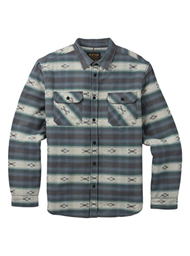 - Burton Brighton Burly Sherpa Flannel Sweater, La Sky Azrek, Medium