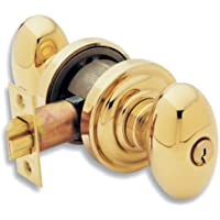 Baldwin 5225.003.ENTR Egg Knob Keyed Entry Set, Lifetime Polished Brass by Baldwin