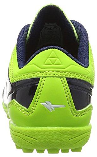 Gola Rapid VX, Botas de Fútbol Para Niños Azul (Navy/Lime)
