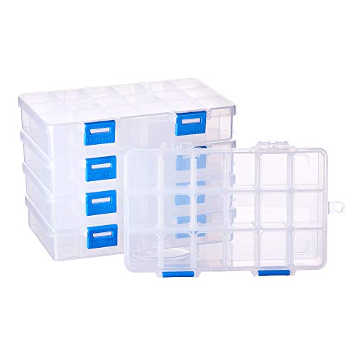 BENECREAT 5 Pack 18 Grids Dividers Box Organizer