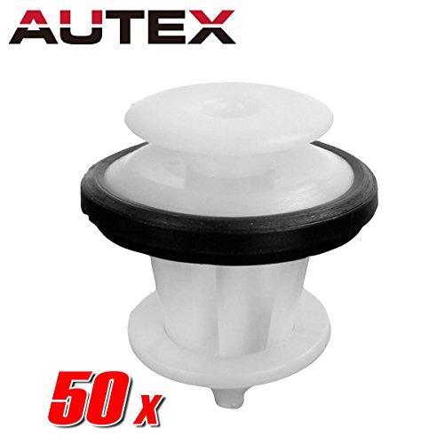 AUTEX 50pcs Fender Liner Fastener Rivet Push Clips Retainer Nut for 2013-2015 Toyota Avalon 2012-2015 Camry 2011-2015 Corolla Sienna 2014-2015 Highlander 2012-2013 Matrix
