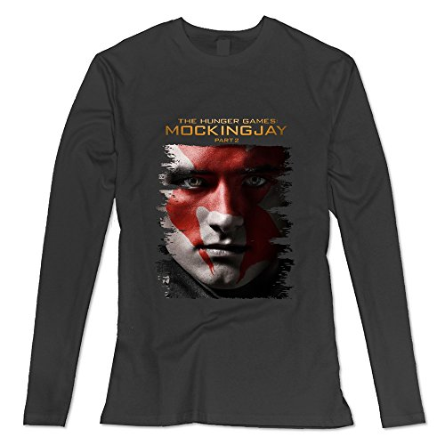 Women's The Hunger Games Mockingjay Part 1 Long Sleeve T-shirt Size S (Effie Trinket Clothes)