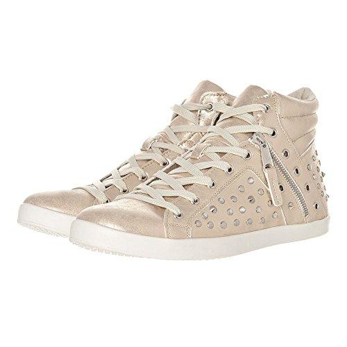 chaussures à clouté Entraînement plates Lacets Doré aqp6tpH